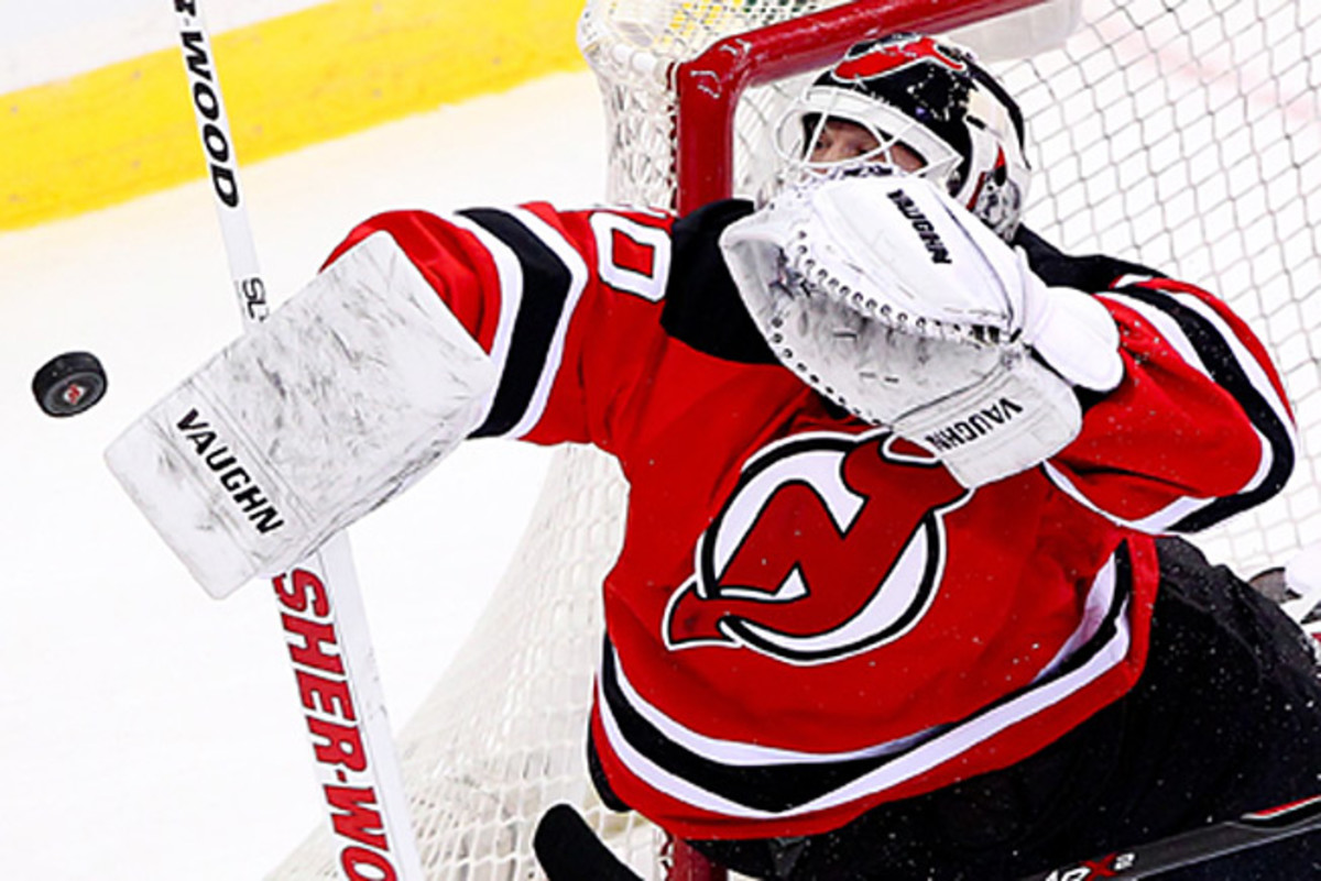 Goaltender Martin Brodeur has to hope his Devils stop thei skid and get some help from other teams.