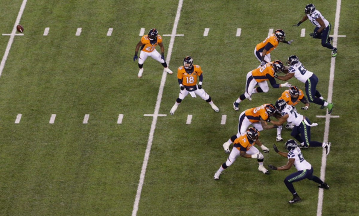 The Denver Broncos offensive line endured a brutal Super Bowl, starting with the errant opening snap, which resulted in a safety.