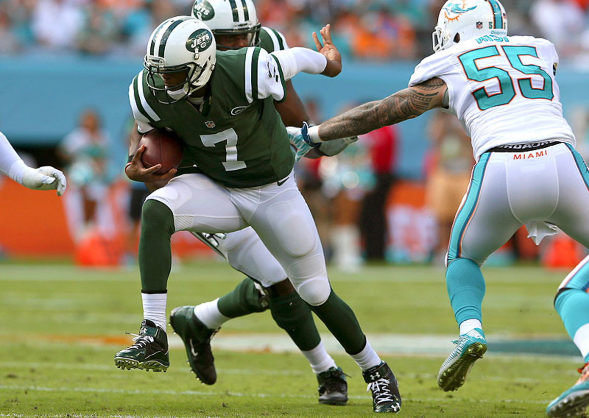 Led by Geno Smith, the Jets played their best game of the season in beating the Dolphins 37-24 in Week 17. (Mike Ehrmann/Getty Images)