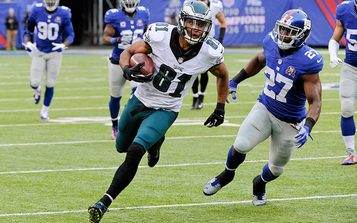 The immediate contributions of rookie receiver Jordan Matthews was a bright spot in an otherwise disappointing, inconsistent season for the Eagles. (Bill Kostroun/AP)