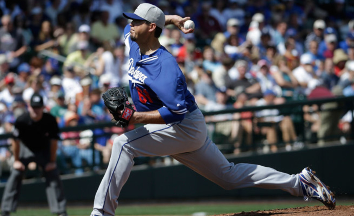 Josh Beckett went 0-5 in eight starts for the Dodgers in an injury-shortened 2013 campaign.