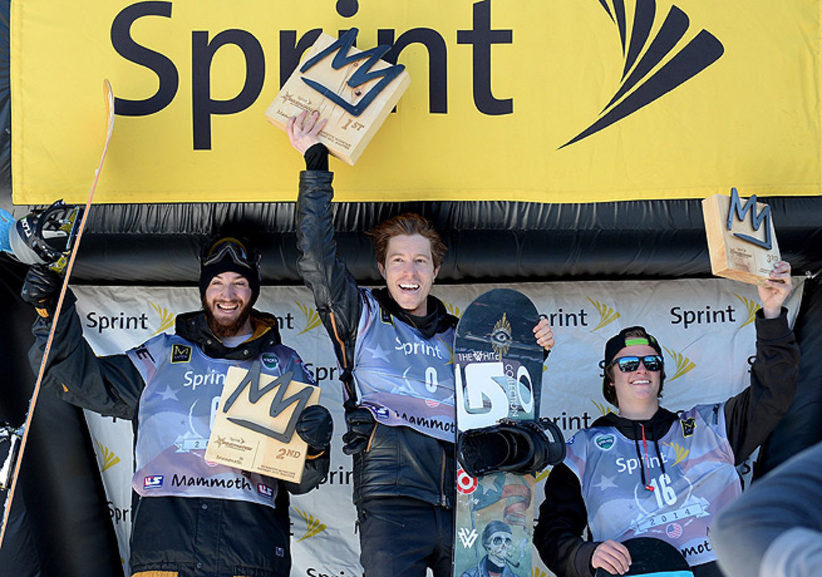 Shaun White (center) is all but assured of making the trip to Sochi with the U.S. Olympic team.