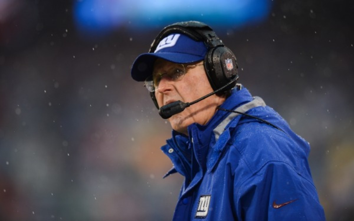 Tom Coughlin has a 90-70 record in 10 seasons as Giants head coach. (Ron Antonelli/Getty Images)