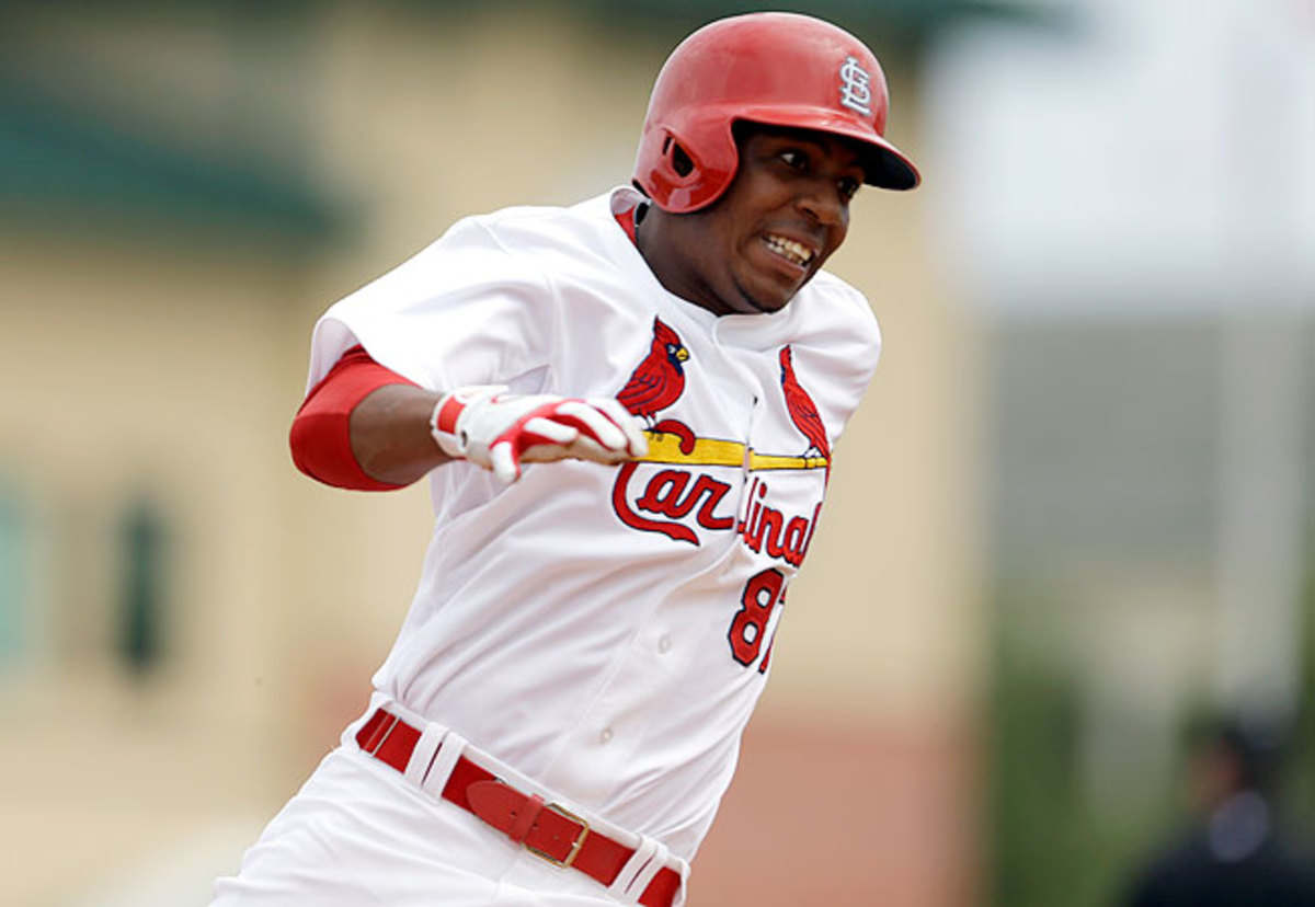Oscar Taveras has put up stellar numbers at the plate for Triple-A Memphis but had been blocked from a big-league promotion by the Cardinals' loaded lineup.