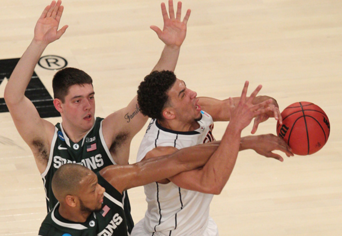 Michigan State's defense stifled Virginia, holding the Cavaliers to just 35 percent shooting.