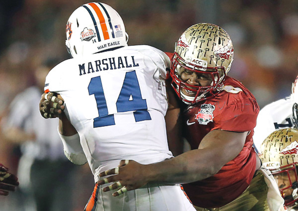 Timmy Jernigan record nine tackles and .5 tackles for loss in Florida State's BCS title win.