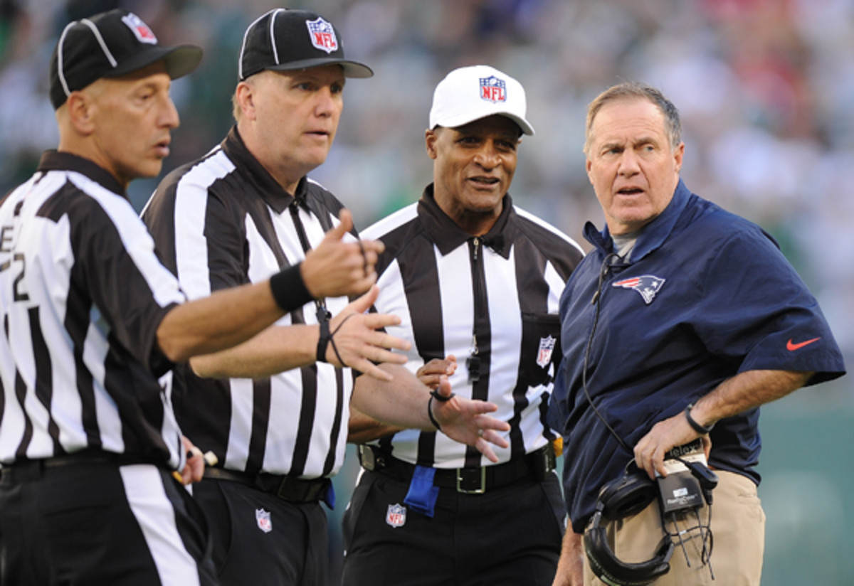 Bill Belichick was unhappy with the refs, but he had nobody to blame but himself against the Jets.