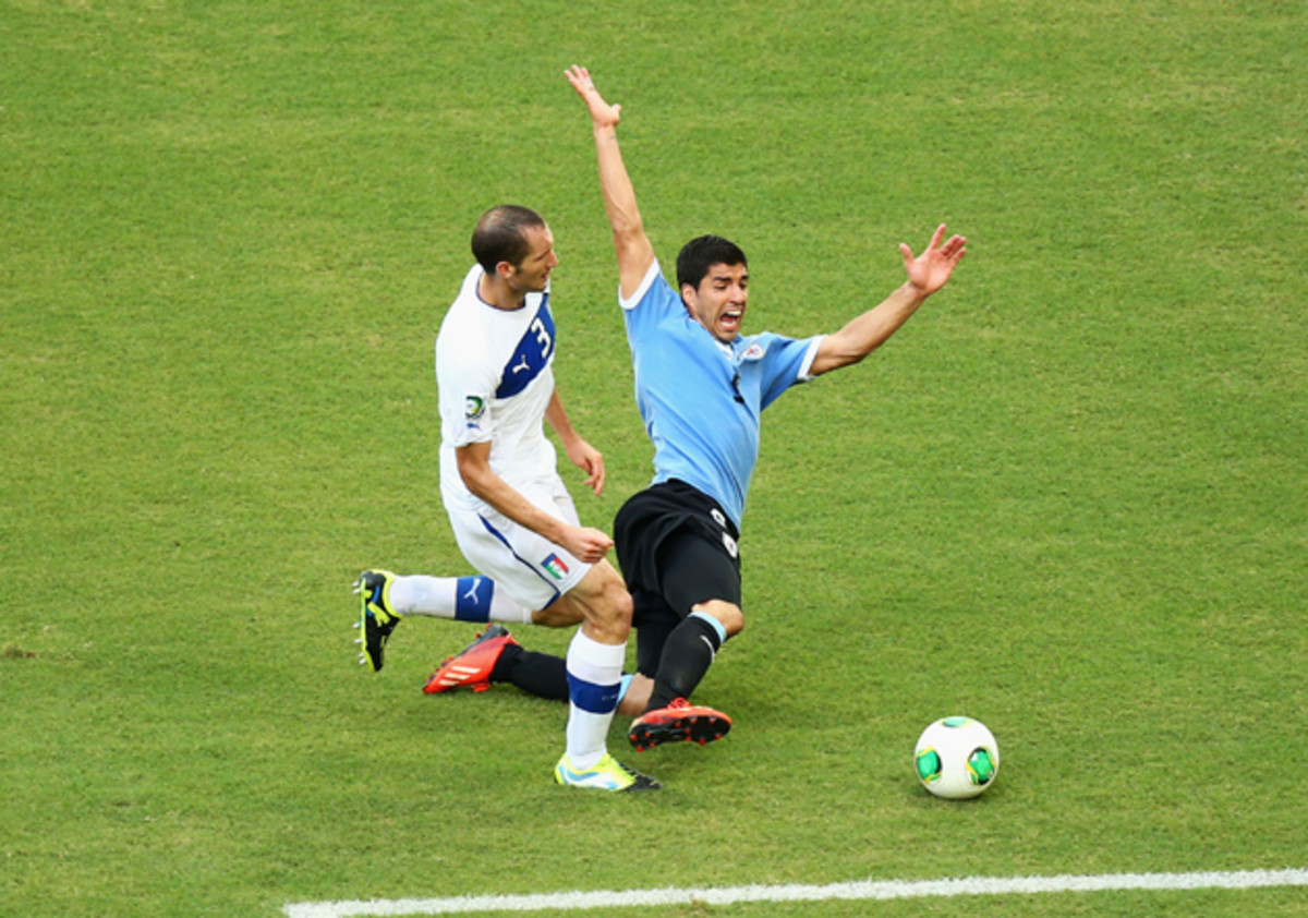 Public Enemy Numero Uno — Suarez's gamesmanship - snatching a goal from Ghana and flopping against Italy - distracted from his brilliance.