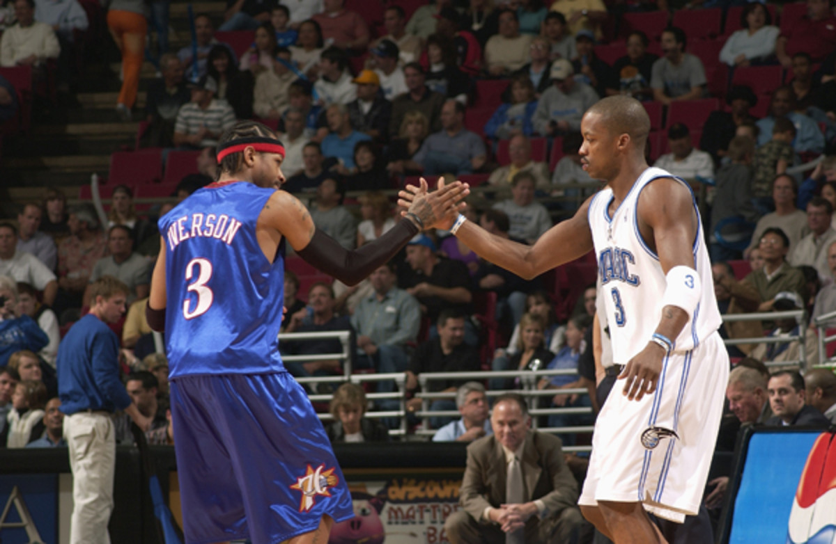 Allen Iverson and Steve Francis :: Getty Images