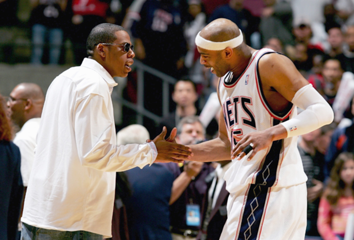 Vince Carter and Jay-Z :: Getty Images