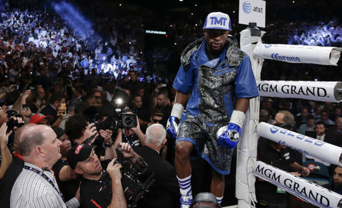 Despite being a title holder in five divisions, Floyd Mayweather says his last fight will come in September of 2015.