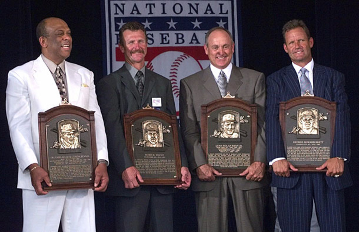 Orlando Cepeda, Robin Yount, Nolan Ryan and George Brett