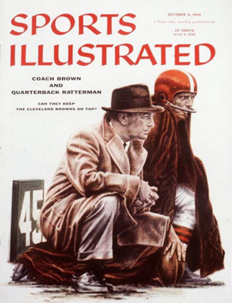 Paul Brown and George Ratterman graced the cover of SI in October 1956. (Robert Riger/SI)