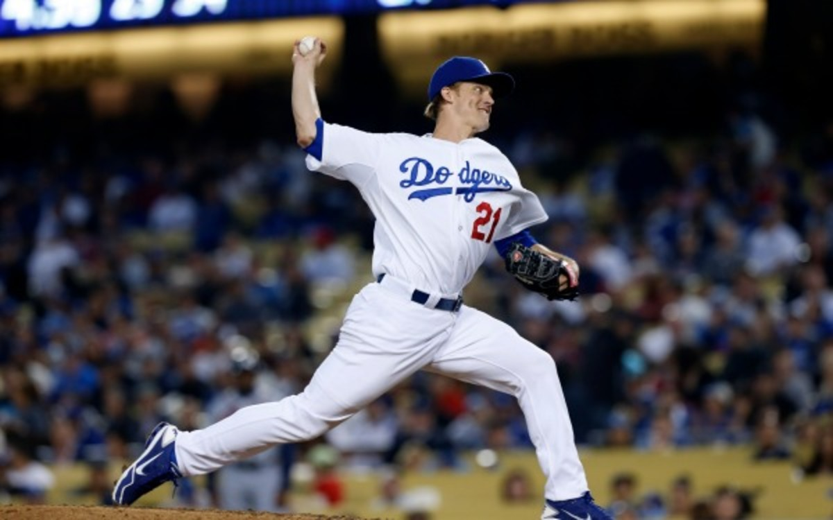 Dodgers pitcher Zack Greinke went 15-4 with 2.63 ERA and 148 strikeouts last season.(Larry Goren/Four Seam Images via AP Images)