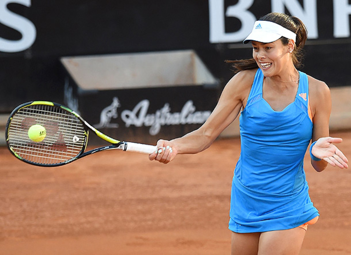 Ana Ivanovic faces a first-round test in frenchwoman Caroline Garcia. (Giuseppe Bellini/Getty Images)
