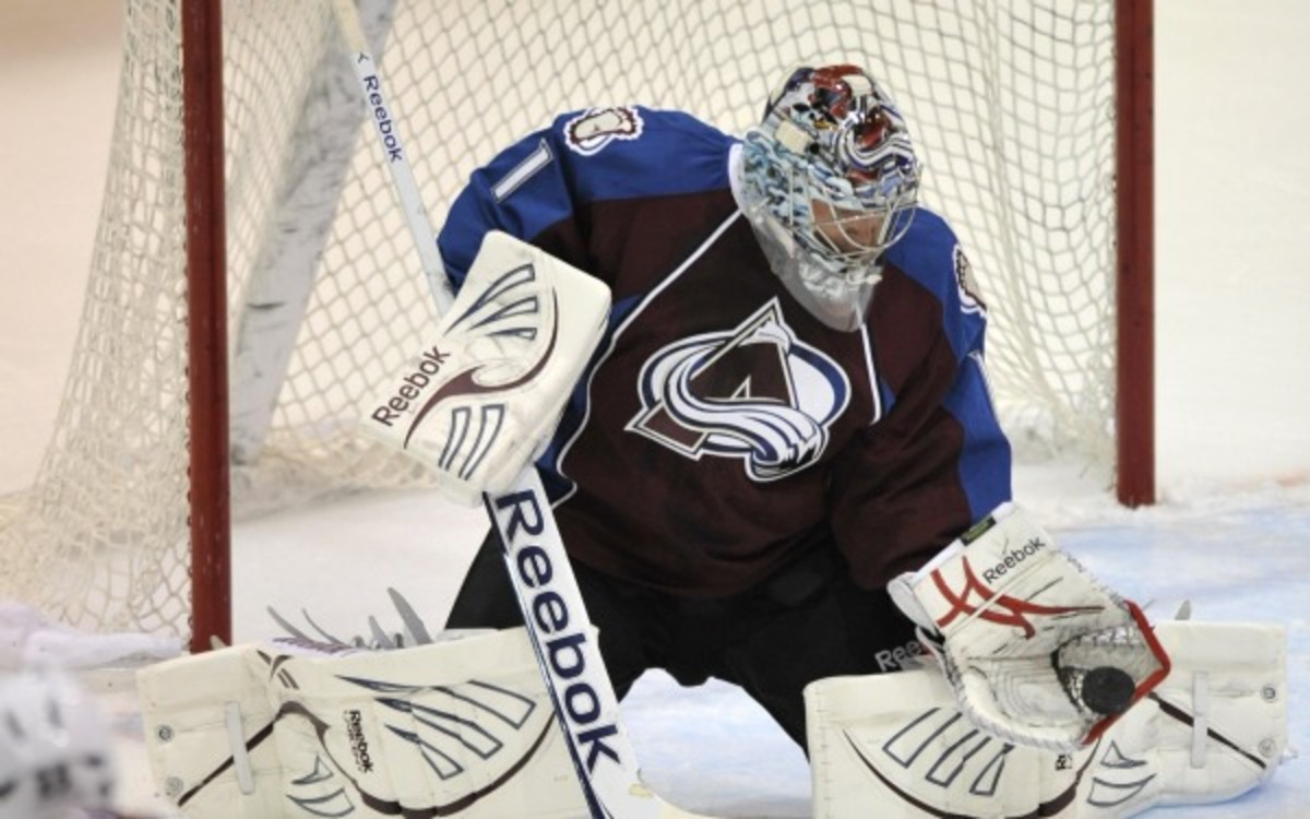 Avalanche goalie Semyon Varlamov is tied for third in the NHL with 7 wins this season. (AP Photo/Jack Dempsey)