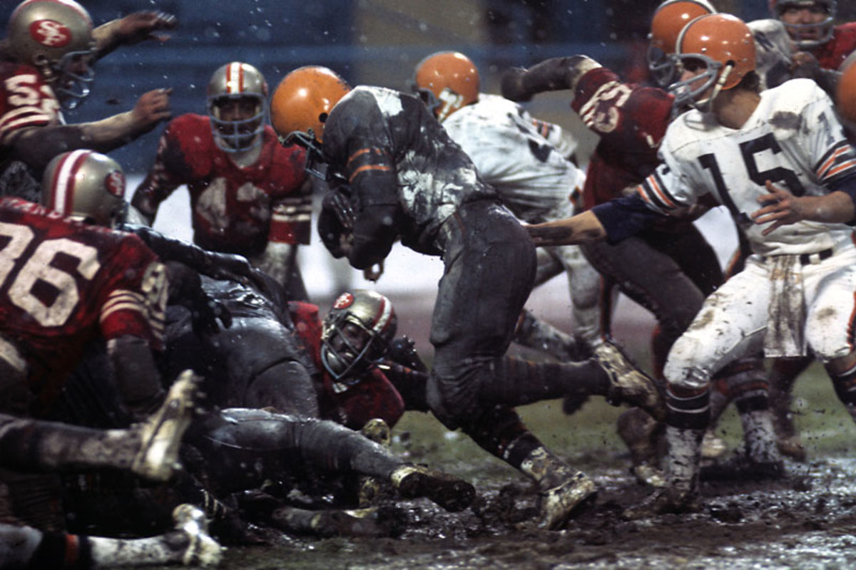 What is Lost: The Niners and Browns have a field day in the mud at Cleveland's Municipal Stadium in 1974. (Neil Leifer/Sports Illustrated)