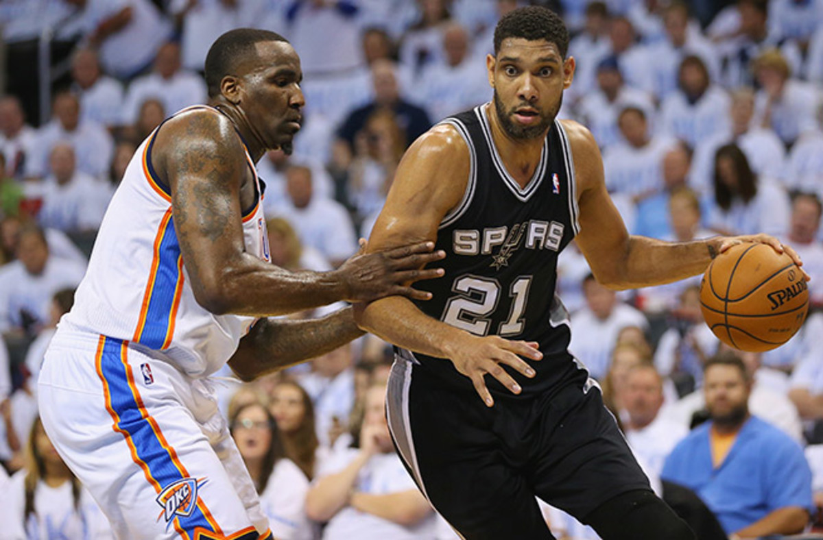 Tim Duncan totaled 19 points and 15 rebounds in Game 6 to send the Spurs back to the Finals.