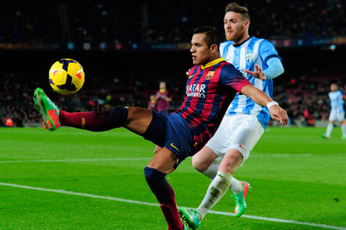 Barcelona's 3-0 win over Malaga kept them level at the top of La Liga with Atletico Madrid, who won 4-2 at Rayo Vallecano this weekend.