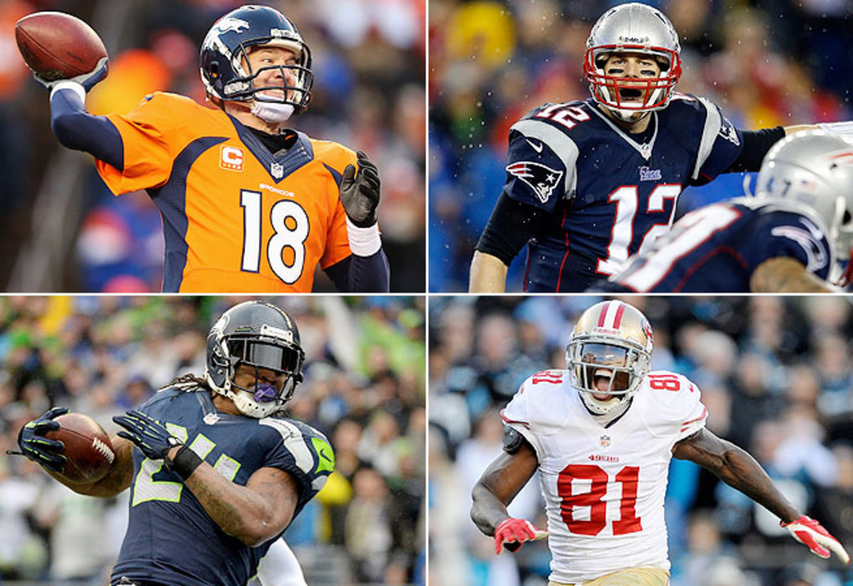 All four teams in the final four made the playoffs last season, with the Patriots and 49ers returning to the title games.