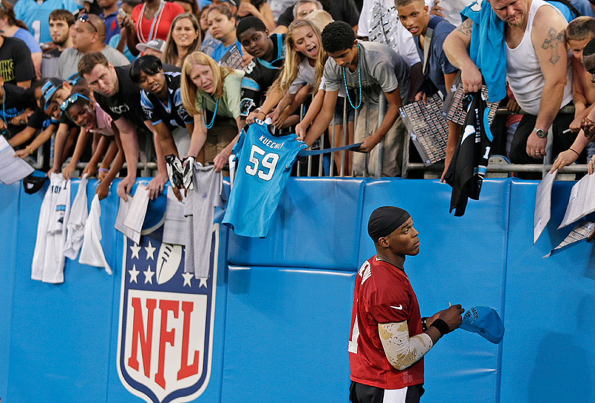 After leading the Panthers to the playoffs last season, Cam Newton's popularity in Carolina has reached new heights. (AP)