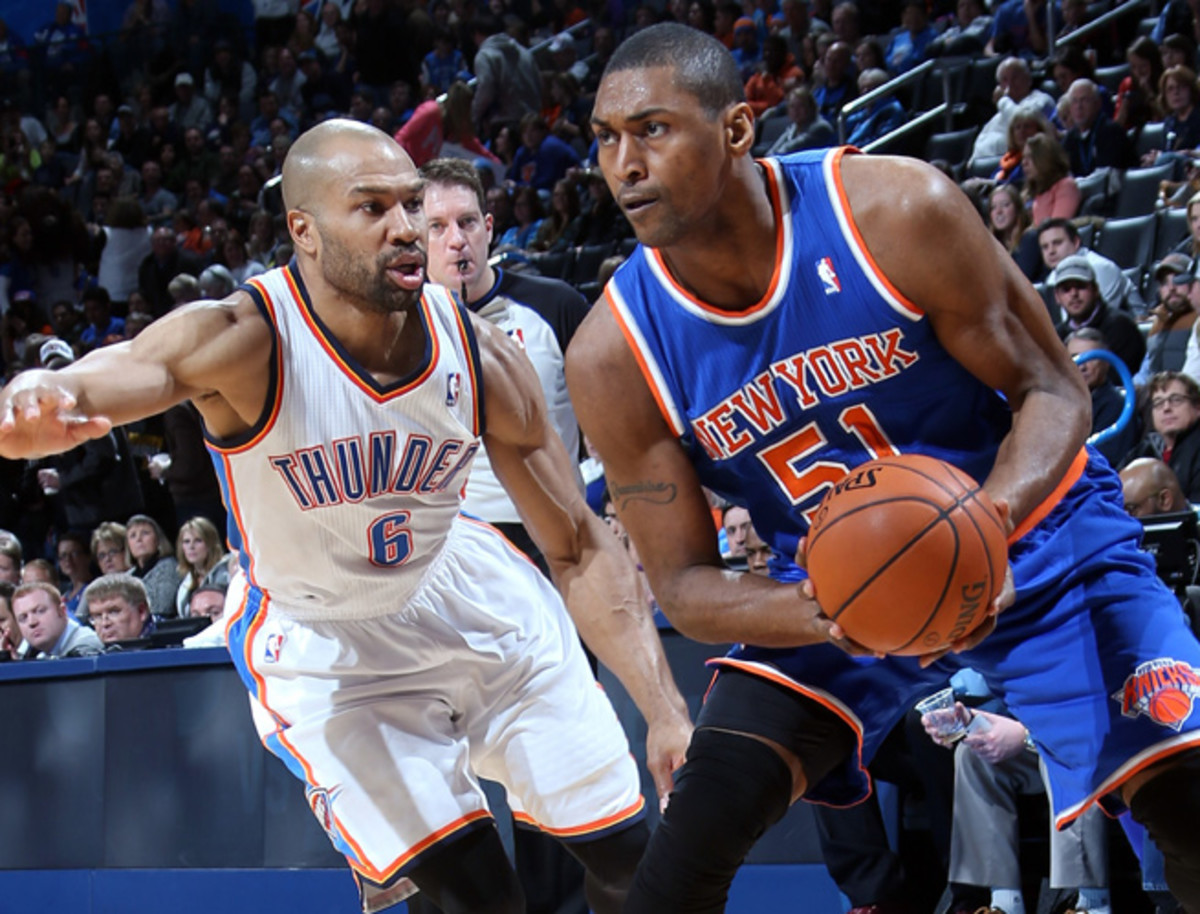 Metta World Peace is averaging just 13.4 minutes and 4.8 points per game for the Knicks.