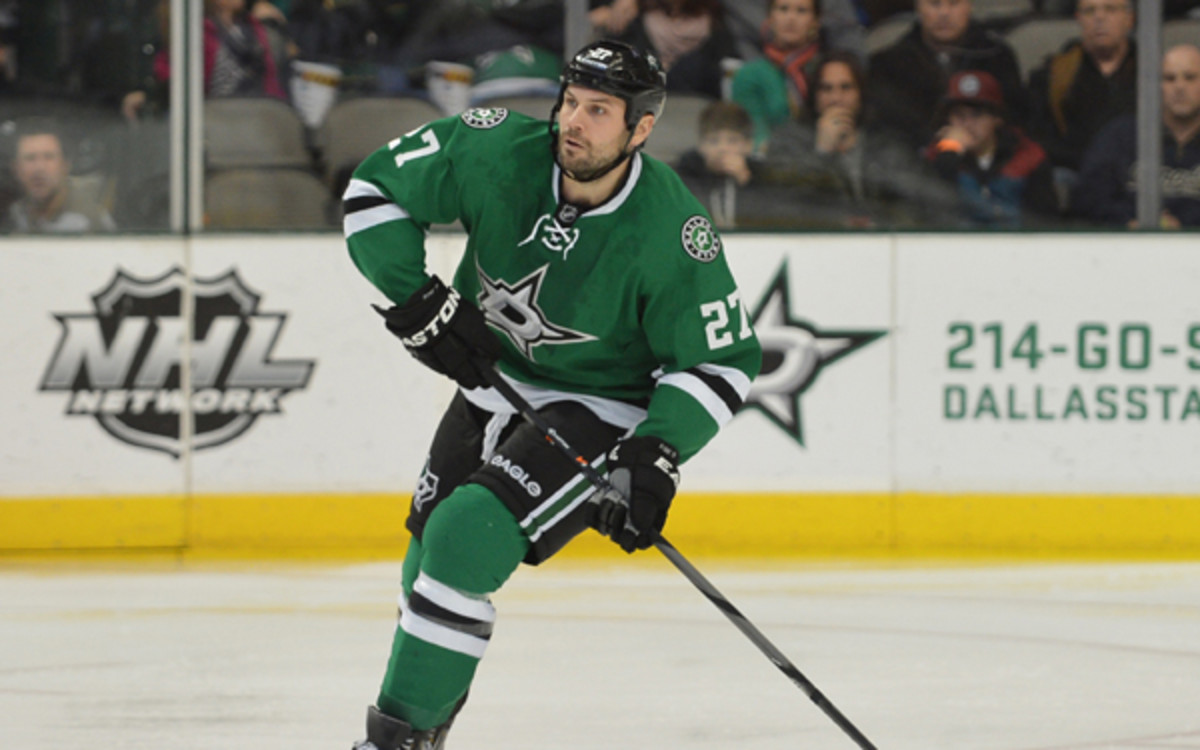 Stars defenseman Aaron Rome played in only 25 games this season.(Patrick Green, Cal Sport Media via AP Images)