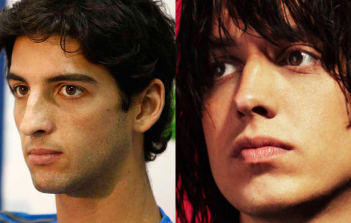 Thomaz Bellucci and Julian Casablancas