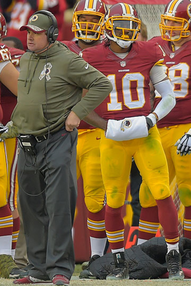 Jay Gruden and Robert Griffin III (John McDonnell/Getty Images)