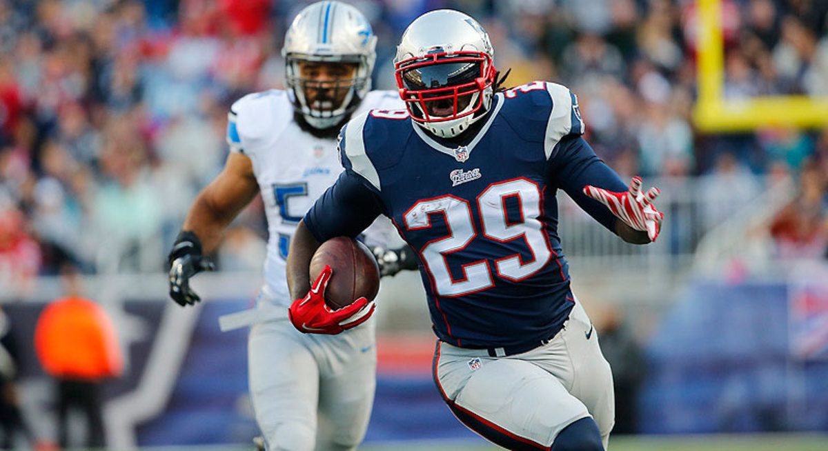 Last Sunday, LeGarrette Blount was a Steeler. Now he's a Patriot, and he rushed for 78 yards and two touchdowns in Sunday's win over the Lions. (Winslow Townson/Sports Illustrated/The MMQB)