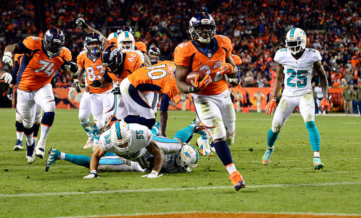 C.J. Anderson has had more than 100 total yards in three consecutive games, finding the end zone twice during that stretch. (Joe Amon/Getty Images)