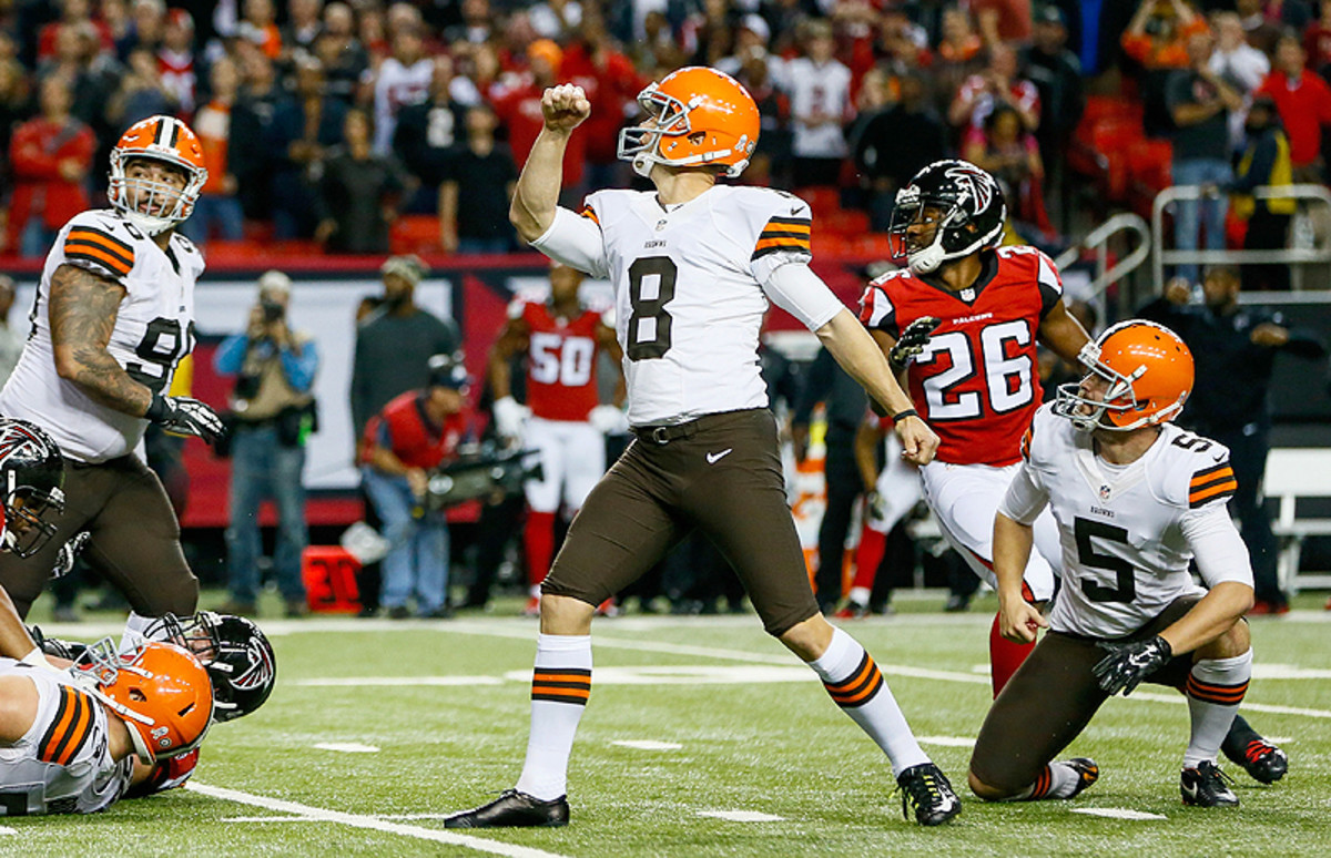Billy Cundiff's game-winner capped another wild win for Cleveland. (Kevin C. Cox/Getty Images)