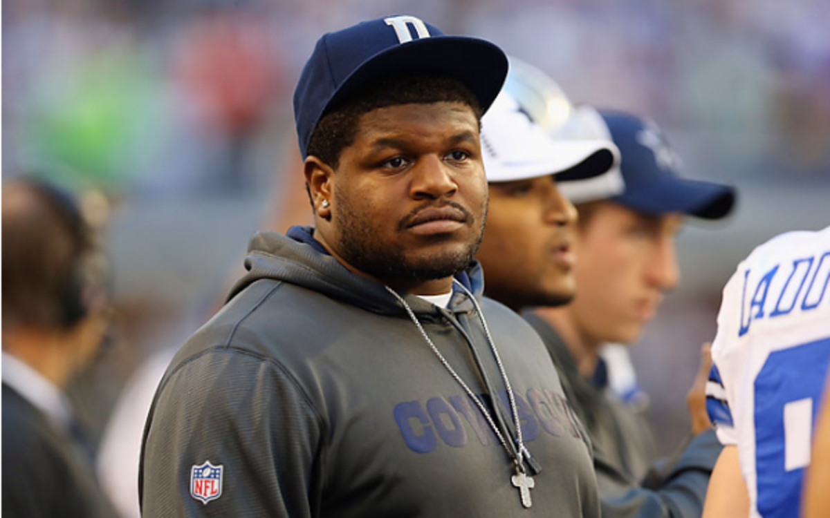 Embattled Cowboys tackle Josh Brent is out of jail again after a court order. (Ronald Martinez /Getty Images)