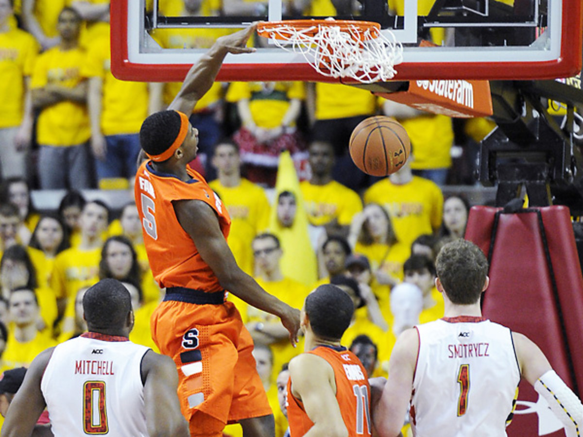 Senior C.J. Fair hit some timely shots for Syracuse and finished with 17 points.