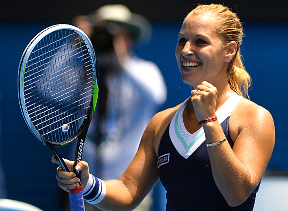 Dominika Cibulkova will play Simona Halep in the quarterfinals. (SAEED KHAN/AFP/Getty Images)