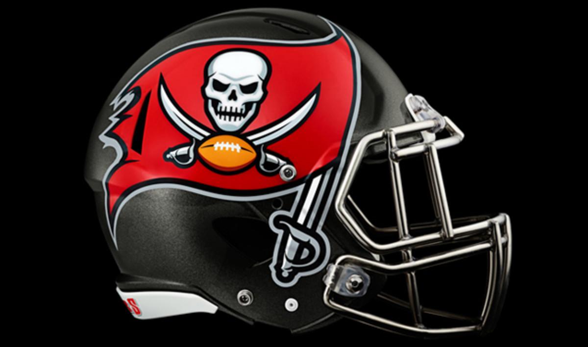 The new Buccaneers helmet with enhanched logo. (Tampa Bay Buccaneers)