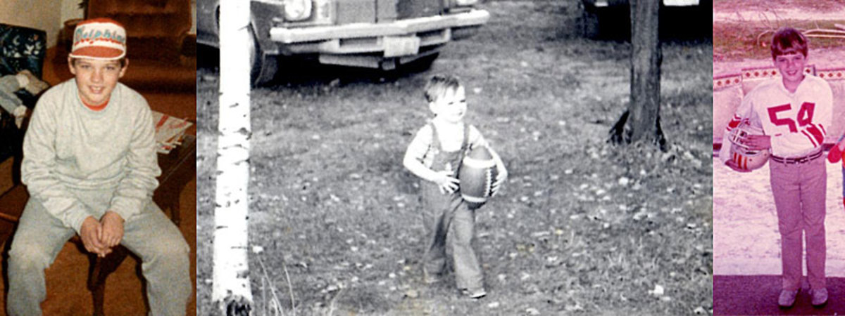 The author as a young football fan.
