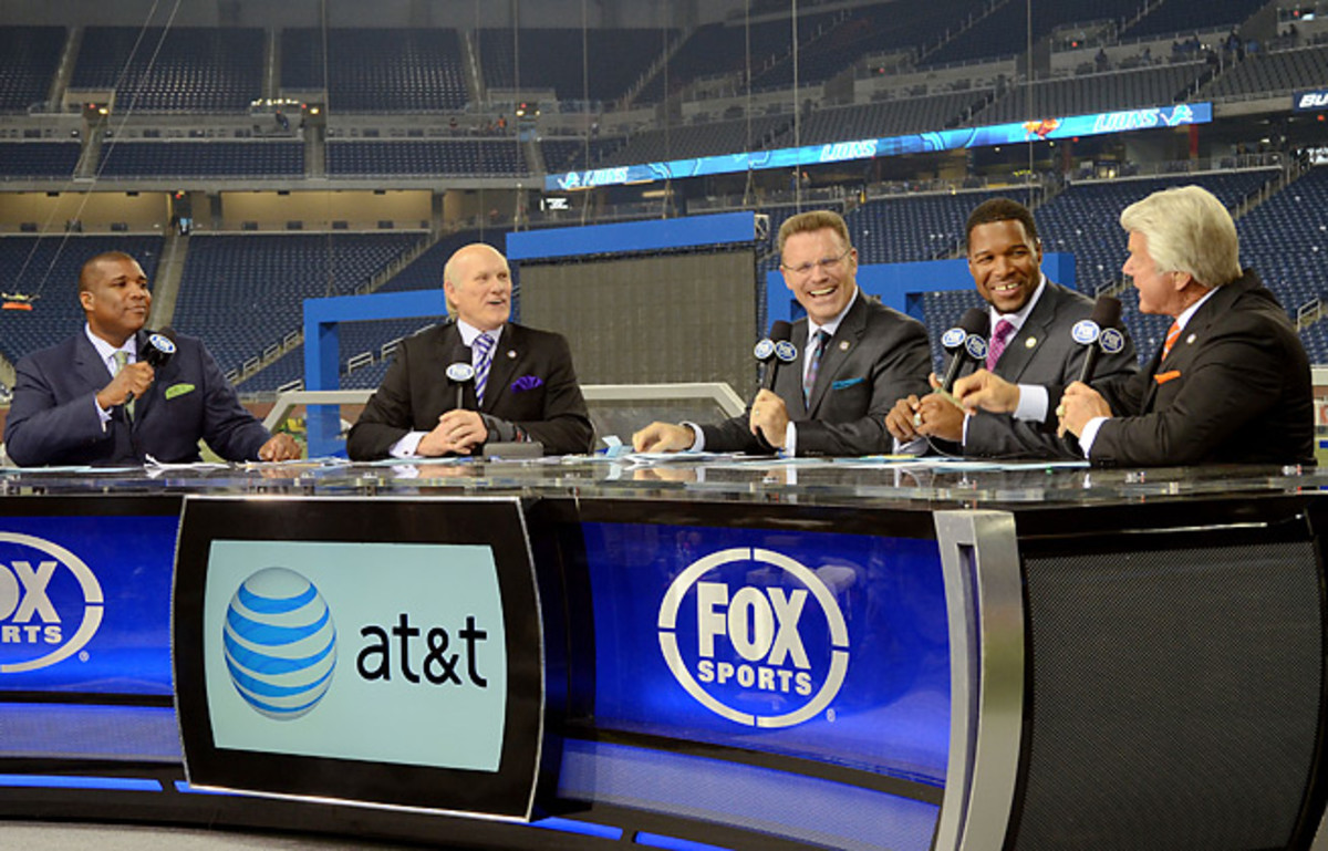 Fox's pregame crew will split Super Bowl Sunday between New York City and MetLife Stadium.
