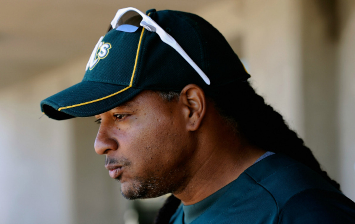Manny Ramirez has hit .312/.411/.585 since joining the majors in 1993. (Kevork Djansezian/Getty Images)