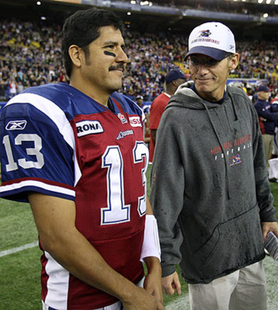 Trestman coached CFL legend Anthony Calvillo for five of the quarterback's 20 seasons. (Ryan Remiorz/The Canadian Press/AP)