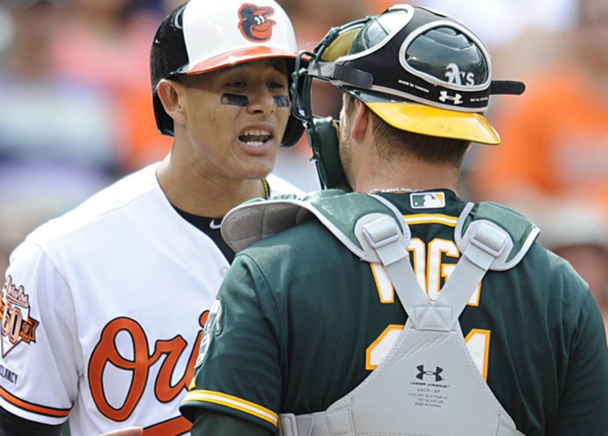 Manny Machado's actions sparked two near-brawls over the weekend against the Athletics.