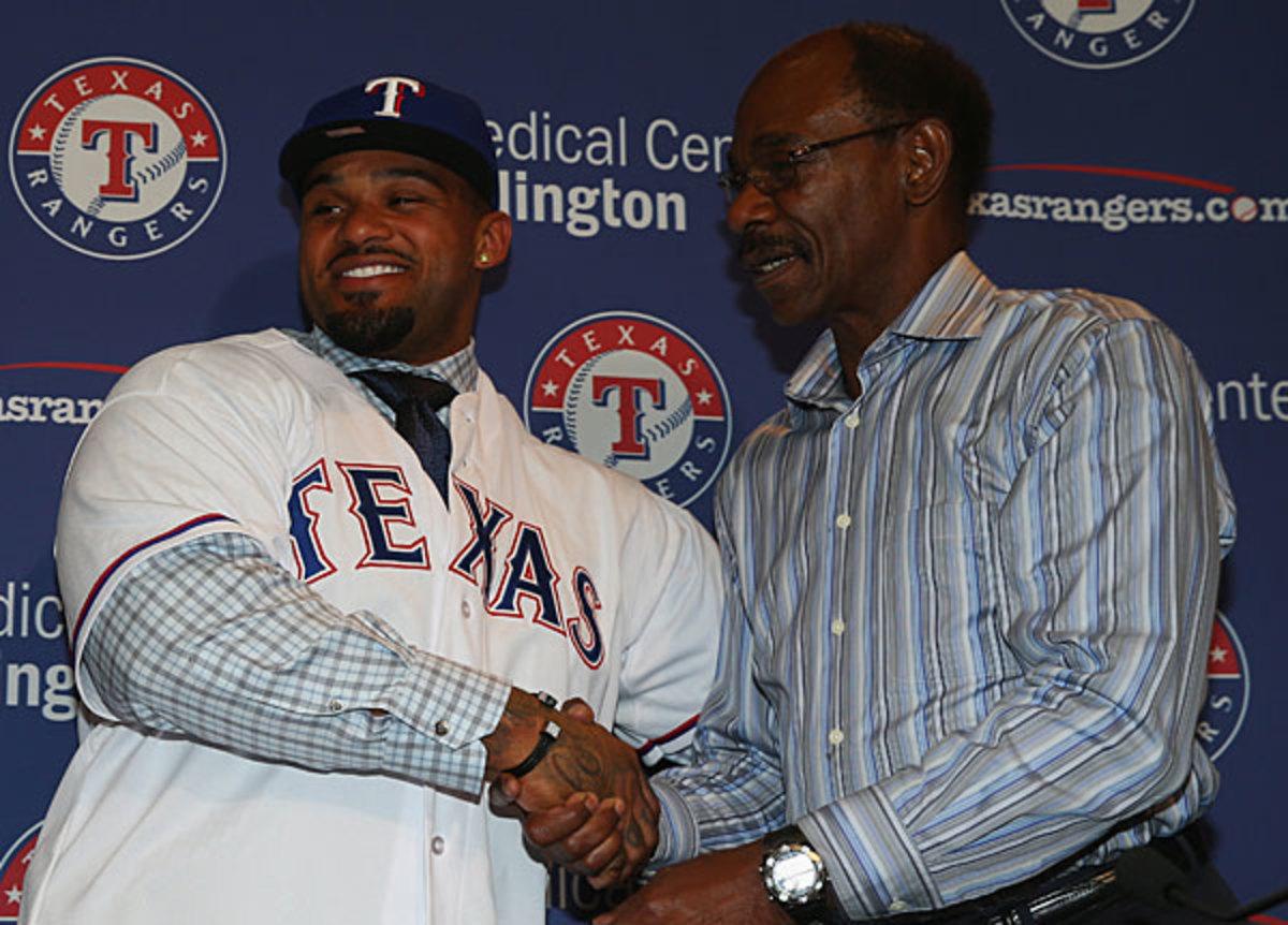 Prince Fielder and Ron Washington, Rangers