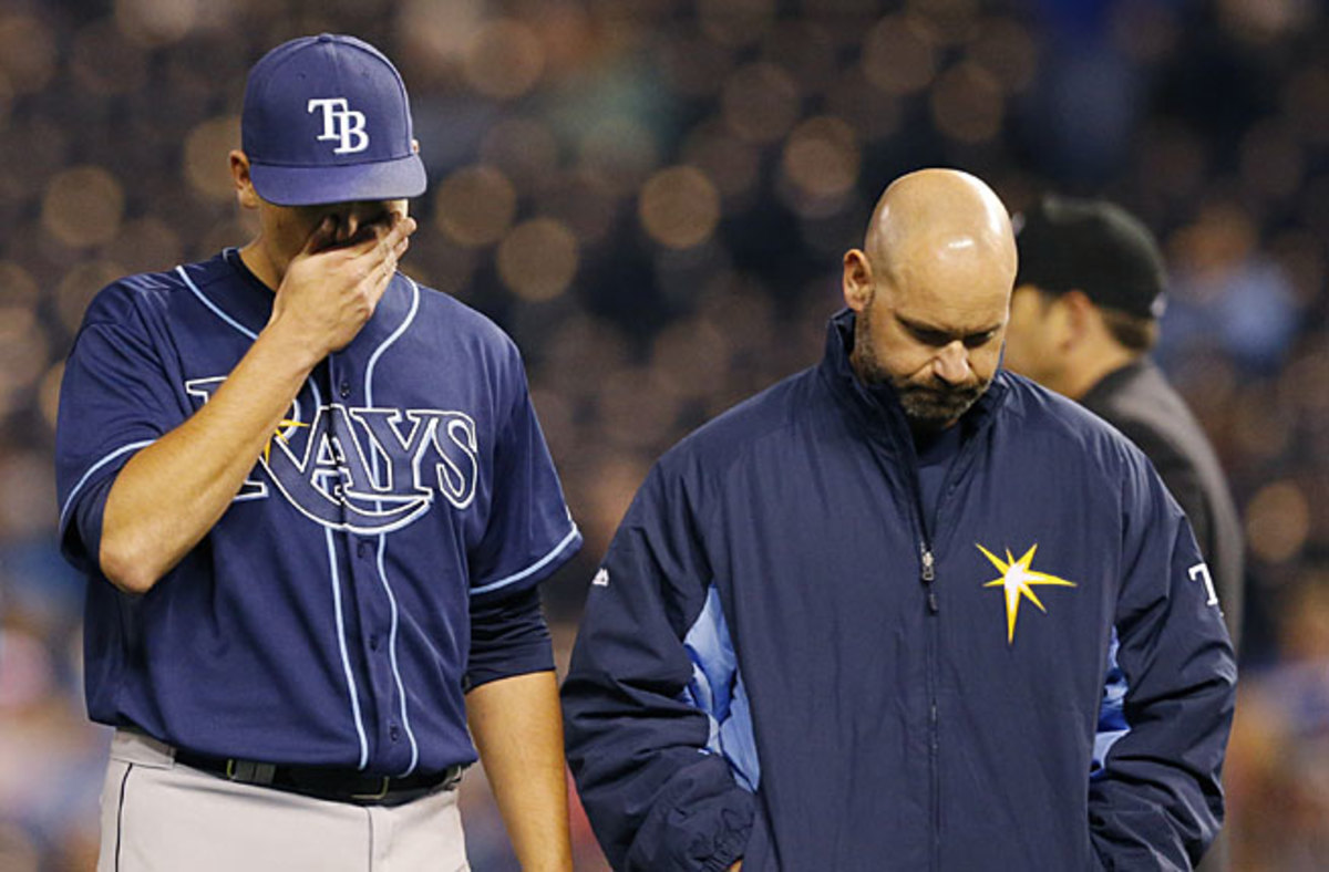 Matt Moore left his April 7 start with an elbow injury that will require Tommy John surgery.