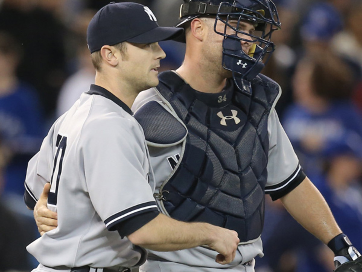 David Robertson (left) had converted two saves before hitting the disabled list in early April. Tom Szczerbowski/Getty Images)