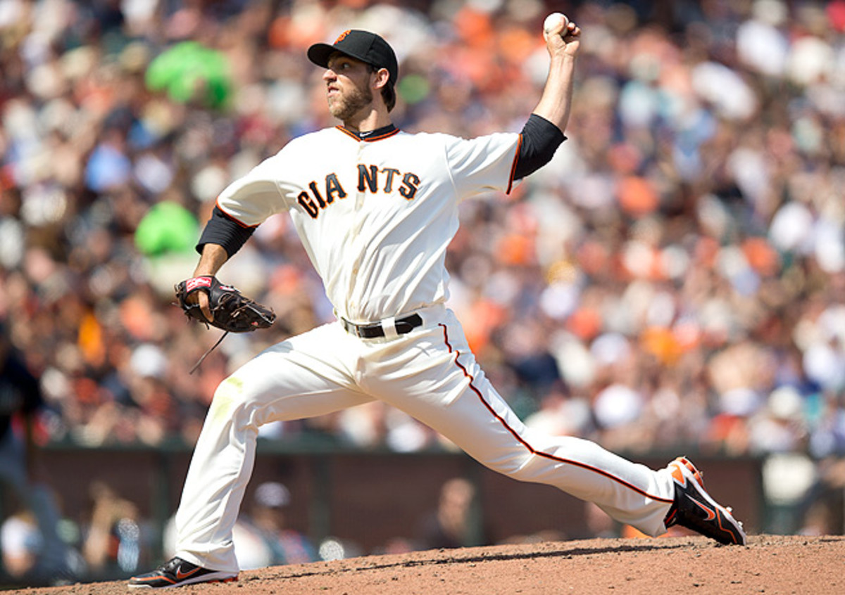 Madison Bumgarner, who finished last season 13-9, is expected to lead the Giants' rotation in 2014.