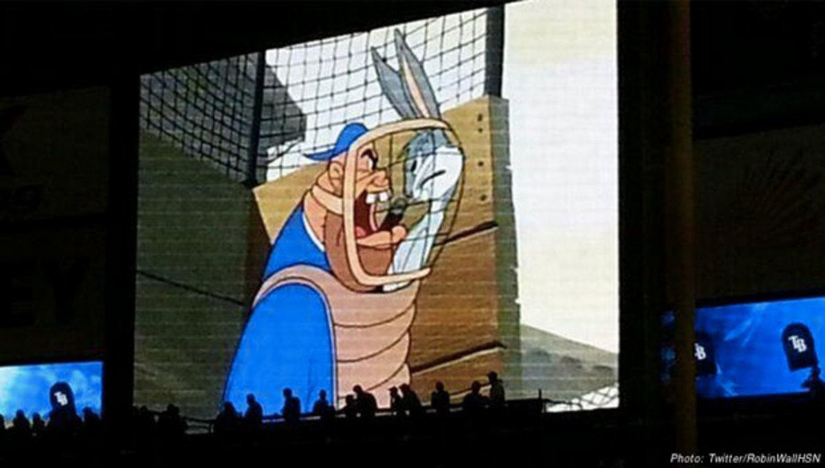 Rays scoreboard :: @RobinWallHSN/Twitter