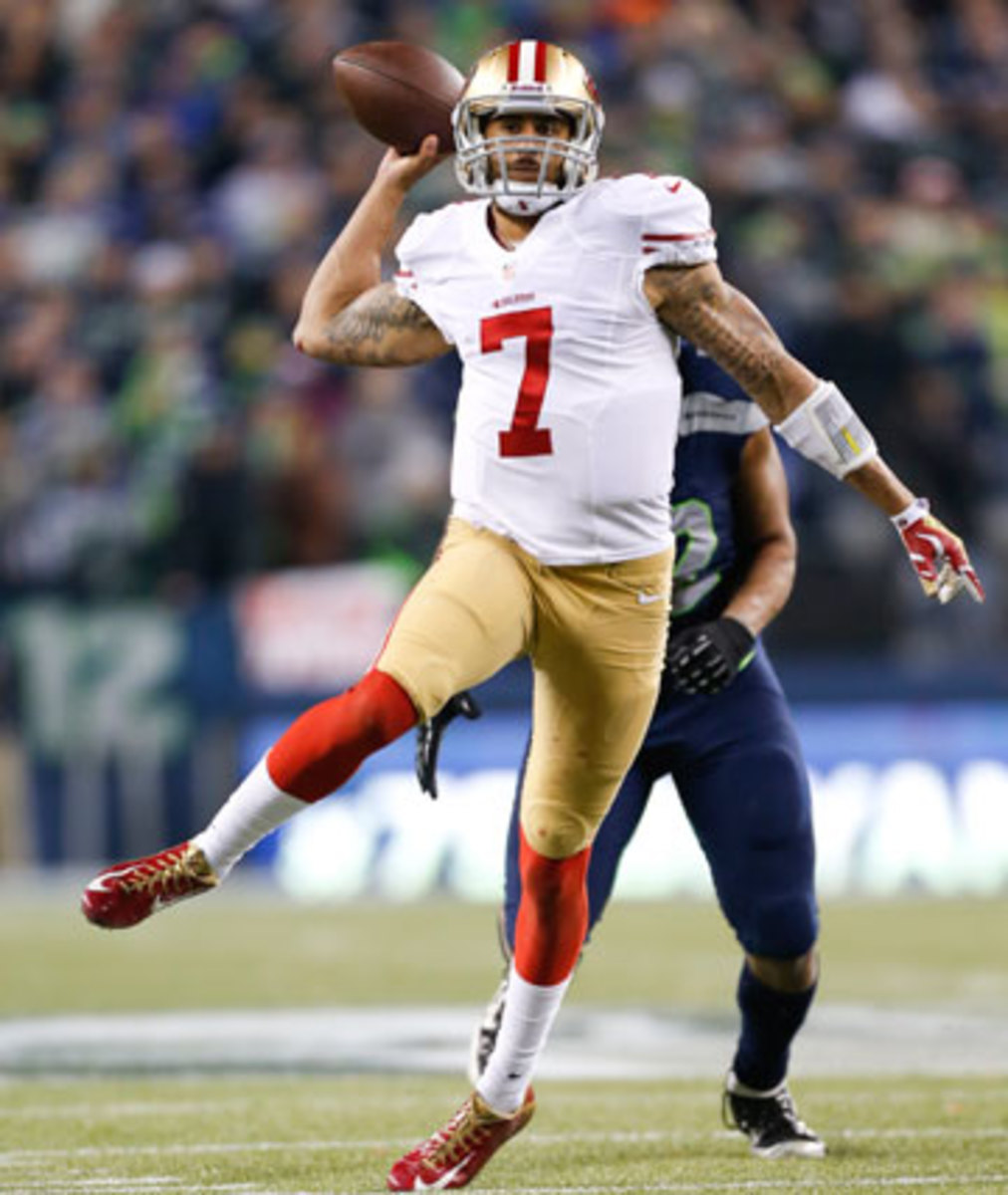 Colin Kaepernick signed a reported six-year, $126 million deal in June. (Michael Zagaris/Getty Images)