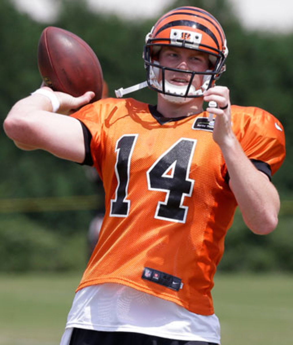Andy Dalton's deal gives the team a way out of the deal after two years and $25 million paid to the QB. (Al Behrman/AP)