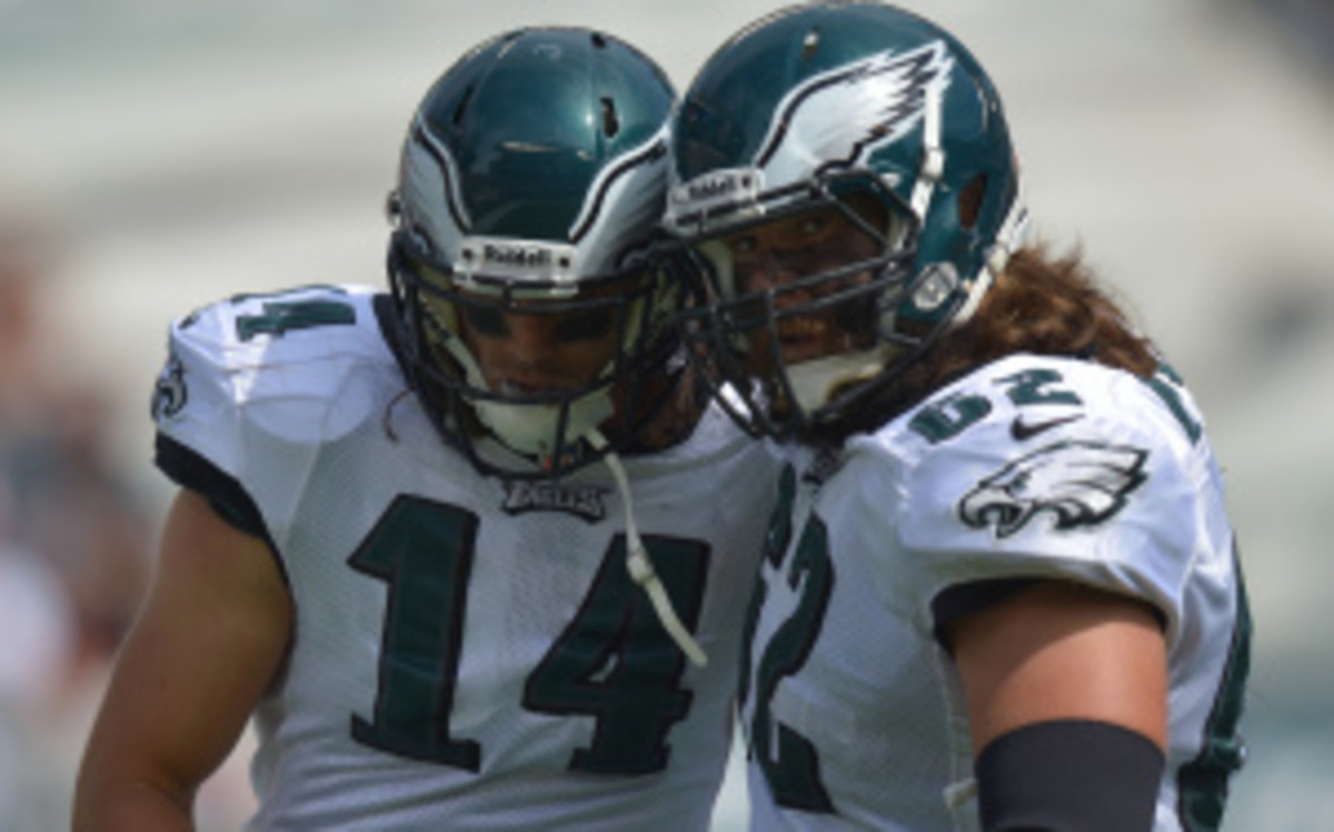 Riley Cooper and Jason Kelce resigned for five and six years, respectively. (Drew Hallowell/Getty Images)