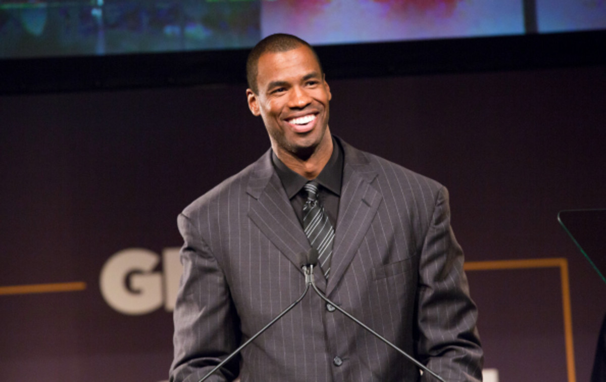 Jason Collins was drafted by the New Jersey nets in the 2001 NBA Draft. (Steven Freeman/National Basketball/Getty Images)